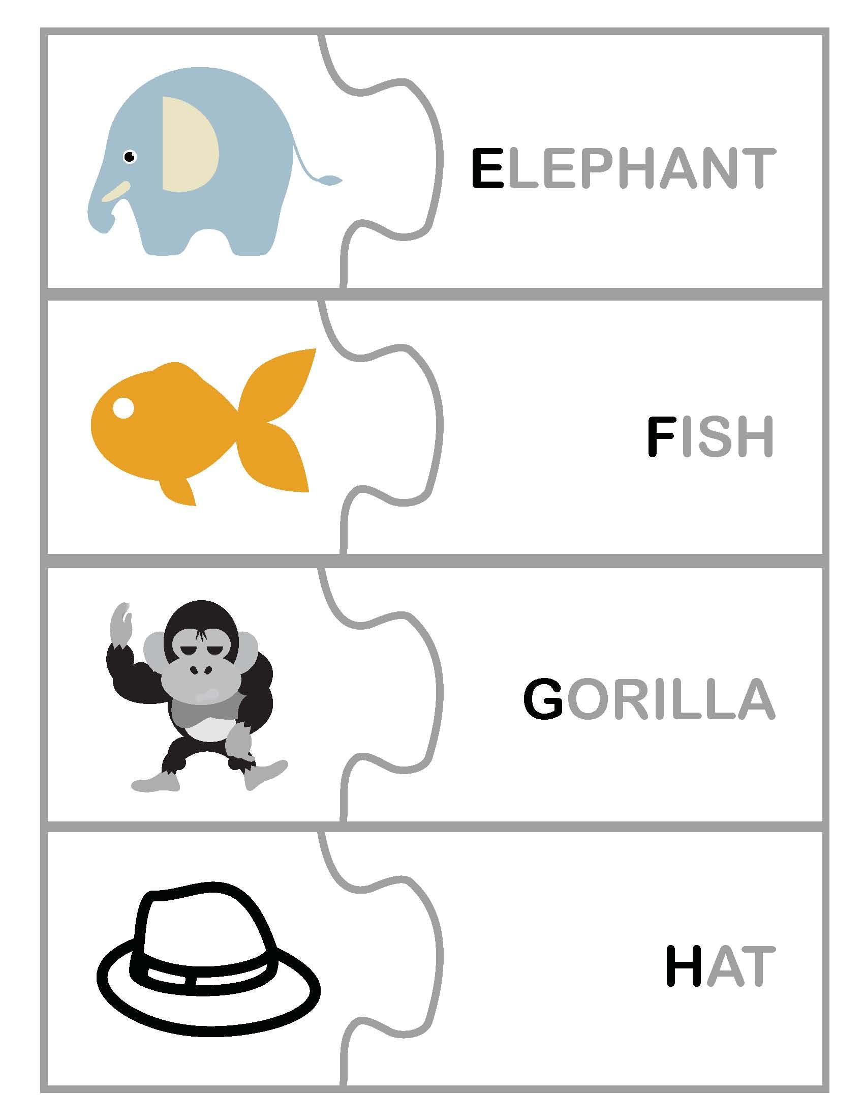 Freebie: Toddler Pre-k Letter/Word Matching Printable Game PDF ...