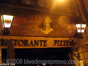 Beati Paoli Ristorante Pizzeria, Palermo, Sicily on Flickr