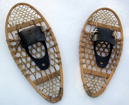 Vintage Chalet Showshoes - Northwoods Woodsie Cabin Decor