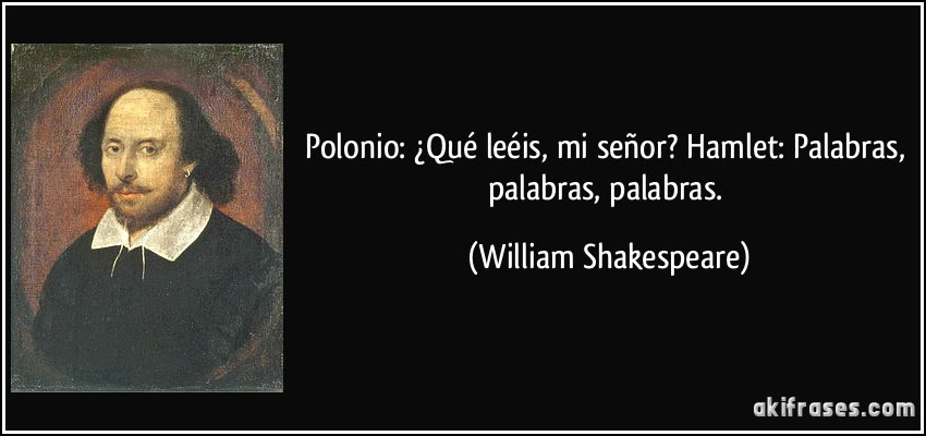 Resultado de imagen para hamlet william shakespeare frases