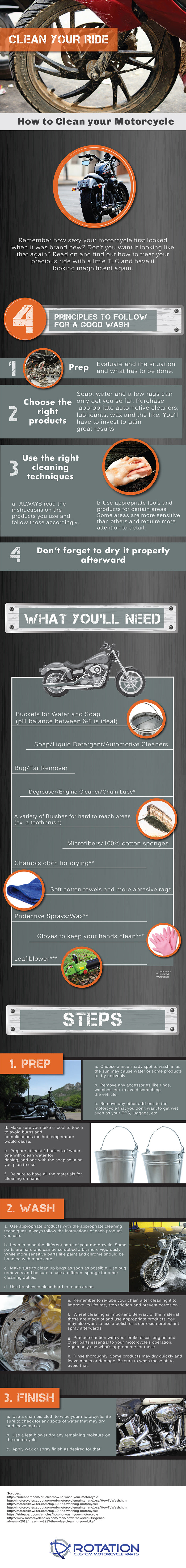 Infographic: How to Clean your Motorcycle