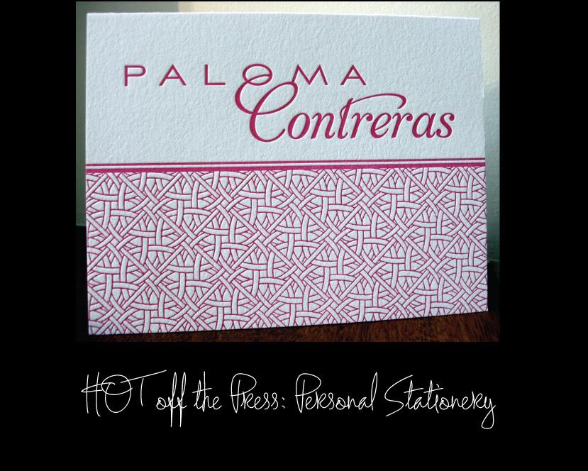 Paloma Contreras' Personal Stationery