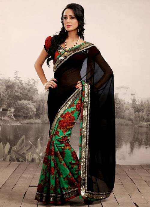 Beautiful-Girls-Women-Wear-Christmas-Exclusive-Saree-Dress-New-Fashion-Red-Suits-Design-5