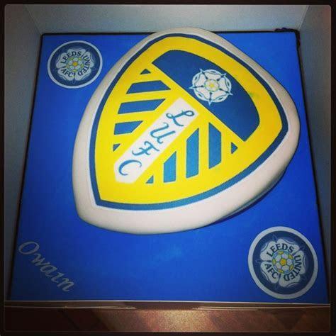 Leeds United Football Shield Birthday Cake   Dylan's