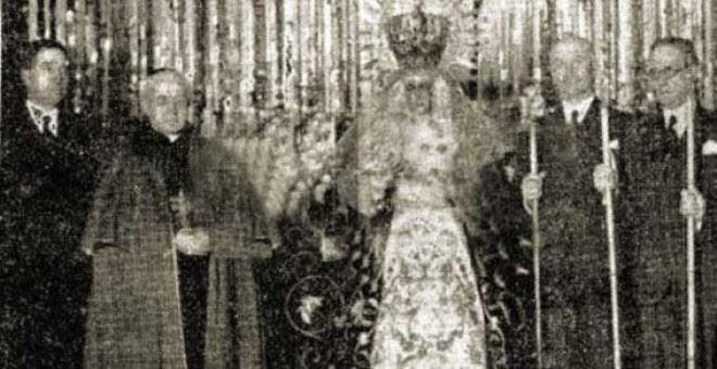 Queipo de Llano en la Basílica de la Macarena