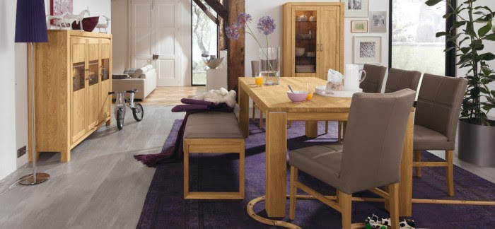 modern casual dining room set