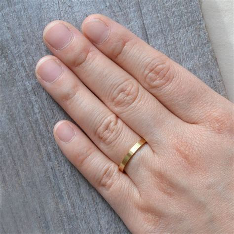 2mm flat wedding band wedding ring stackable by huiyi tan