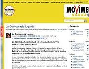 Uno dei forum del M5s in cui si discute di democrazia liquida (Foto Web)
