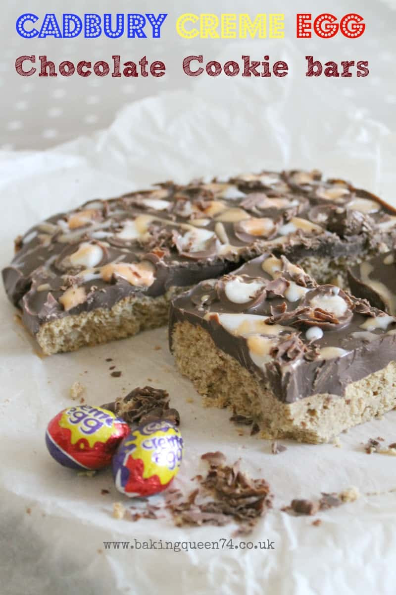 Creme Egg Chocolate Cookie Bars