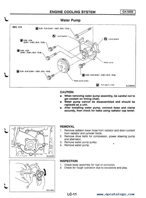 Nissan Primera Model P11 Series Service Manual PDF