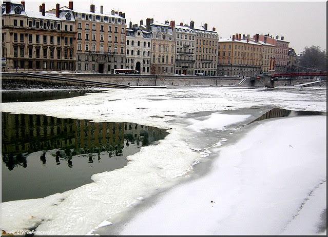 lyon+saône+neige