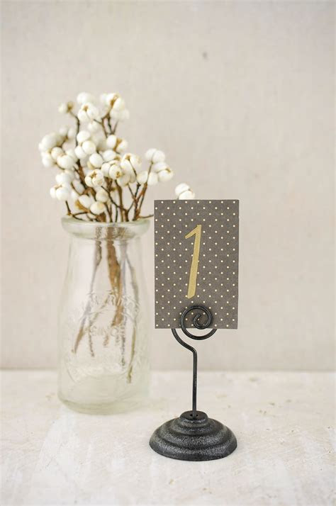 Metal Place Card Holder