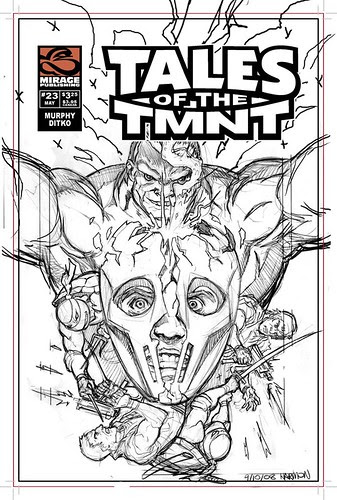 Tales of TMNT # 56 ..clean roughs by Paul Harmon (( 2009 ))