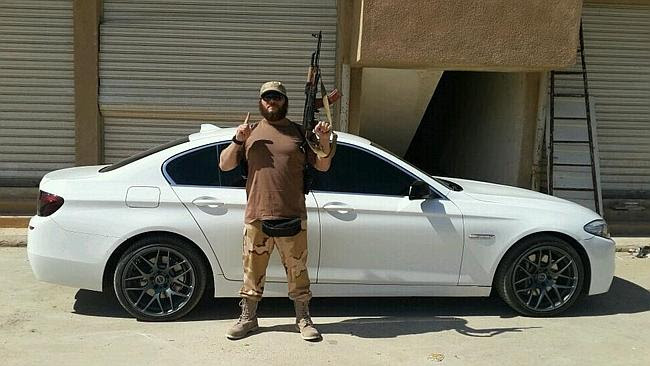 Khaled Sharrouf poses with an AK-47 in Iraq. Picture: Twitter