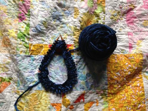 Hannah Hat in Progress by Jeni Baker