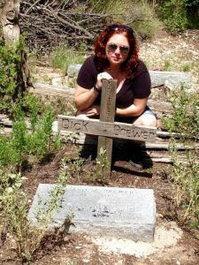 Me at Dick Brewer's Grave