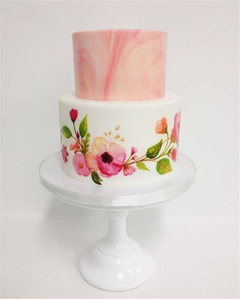 Best 25  Painted wedding cake ideas on Pinterest   Hand