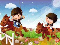 Puzzle en ligne, la course de chevaux