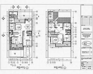 Desain Rumah Minimalis 2 Lantai 6x14