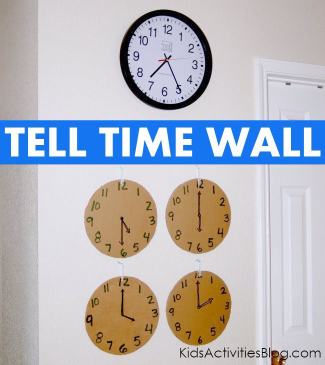 Have a wall of common times near your clock to help your kids anticipate daily events.