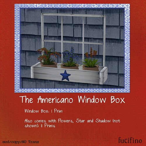 fucifino.the americano window box for Moody Mondays July 4th