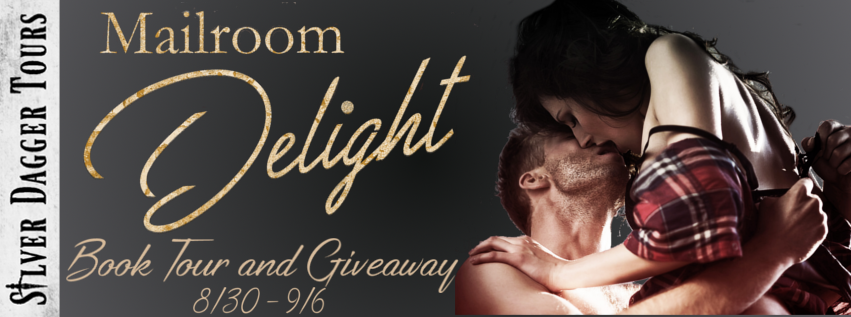Book Tour Banner for contemporary romance Mailroom Delight by Khardine Gray with a Book Tour Giveaway