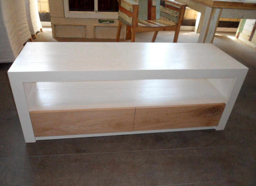 Salontafel Wit Eikenhout.Wit Met Hout Meubels Meuble Gallery Collection