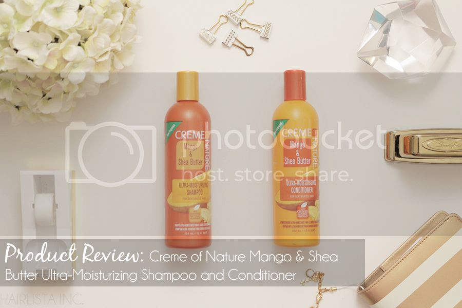 Creme of Nature Mango & Shea Butter Ultra-Moisturizing Shampoo and Conditioner Review | on HairliciousInc.com