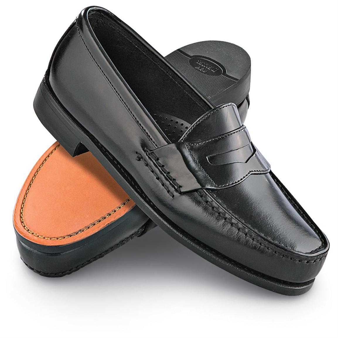 Men's Dexter® Penny Loafer Dress Shoes, Black - 118560 ...