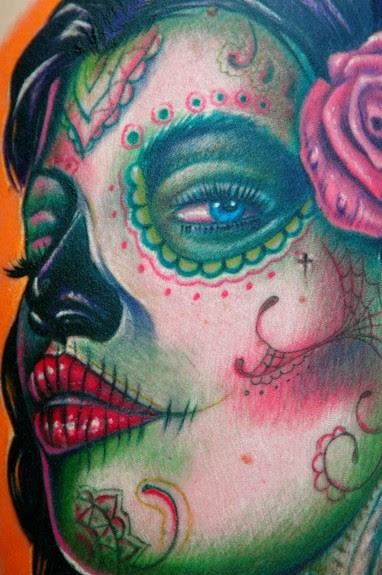 Free Angel Tattoo Stencils Meaning Of Sugar Skull Girl Tattoo