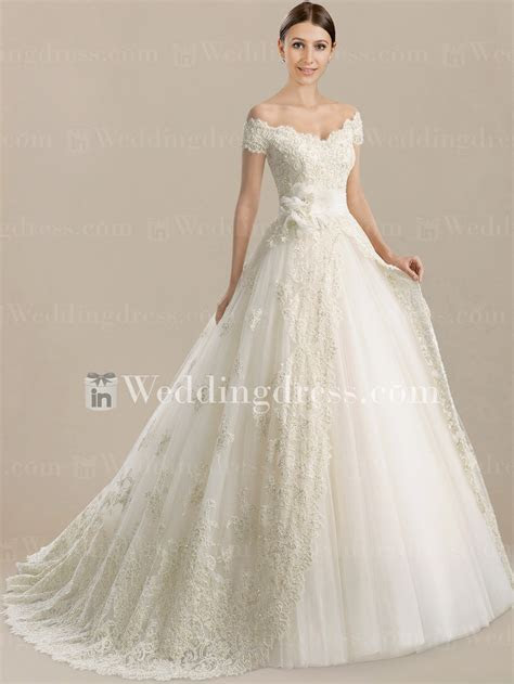 Unique Wedding Dress with Lace Overlay $291