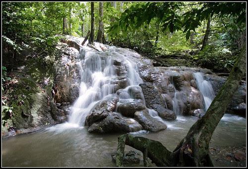 Waterfall at Sa Nang Manora Forest Park, Phang Nga