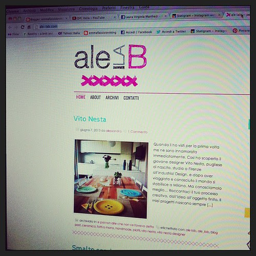 I love her website:) Amo il suo sito:) @ale_la_b
