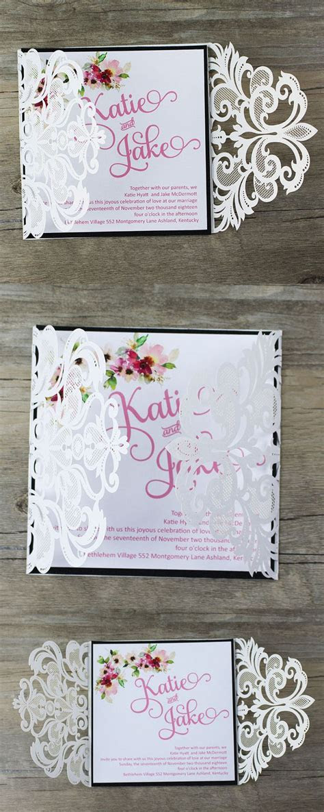 135 best Laser Cut Wedding Invitations images on Pinterest