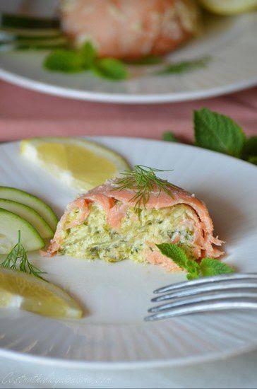 Timbales de saumon et courgettes {cuisson à l'omnicuiseur vitalité}