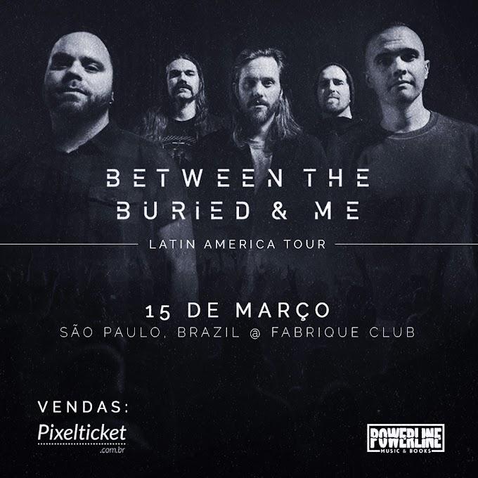 Between the Buried and Me vem pela primeira vez ao Brasil em março de 2020