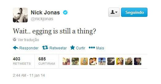 Nick Jonas (Foto: Reprodução/Twitter)