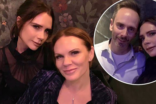 78631c4b811d1c Victoria Beckham parties with her sister Louise and rarely seen brother  Christian