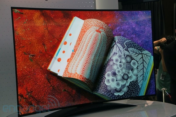 LG's 77inch Ultra HD curved OLED TV is the biggest, with the most buzzwords update eyeson photos