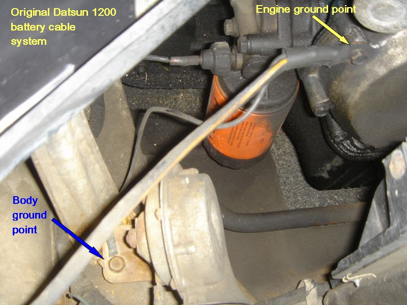 Nissan Battery Cable Wiring Harnes