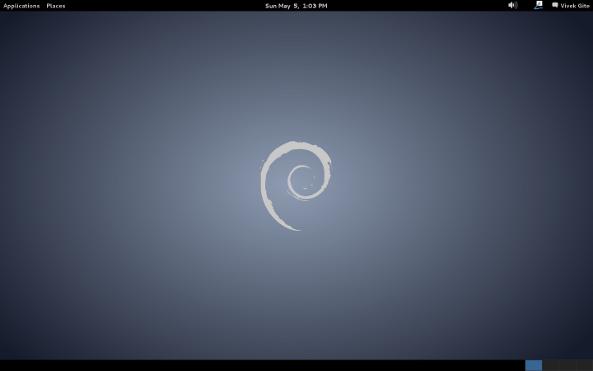 Fig.01: Debian Linux 7.0 Desktop