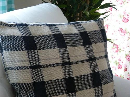 ikea plaid pillow