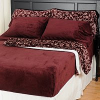 ShopNBC - Cozelle ComfortTouch Six-Piece Sheet Set & Printed Throw ...