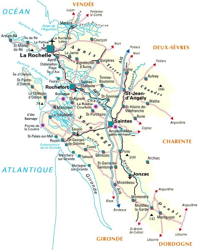 Carte Du Département N 17 Charente Maritime