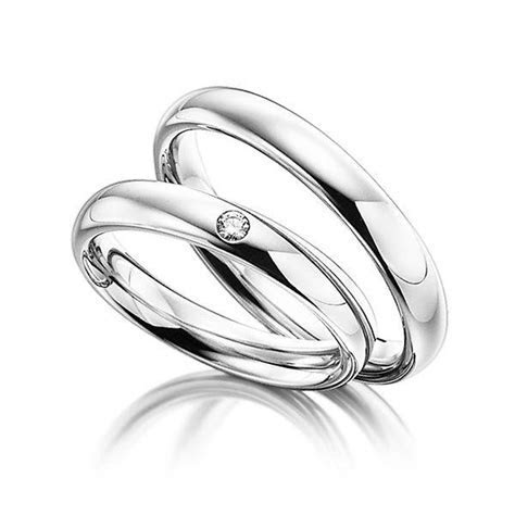His and Hers Wedding Rings,10K White Gold Matching Wedding