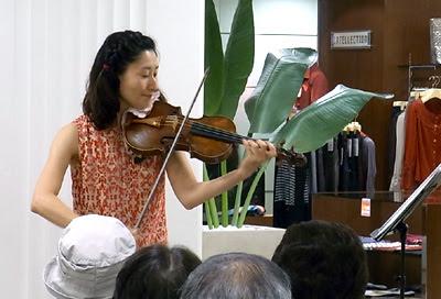 バイオリンコンサー,奥村優,松菱,デパートイベント