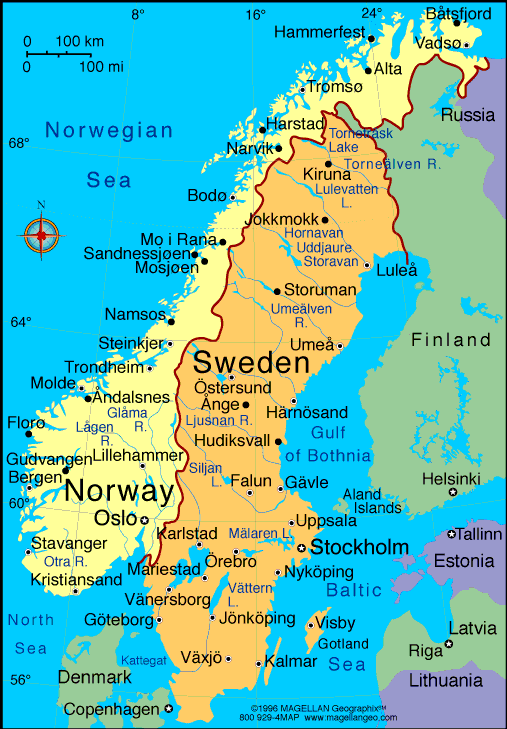 Map Of Sweden I Want To Visit Sweden Denmark Norway