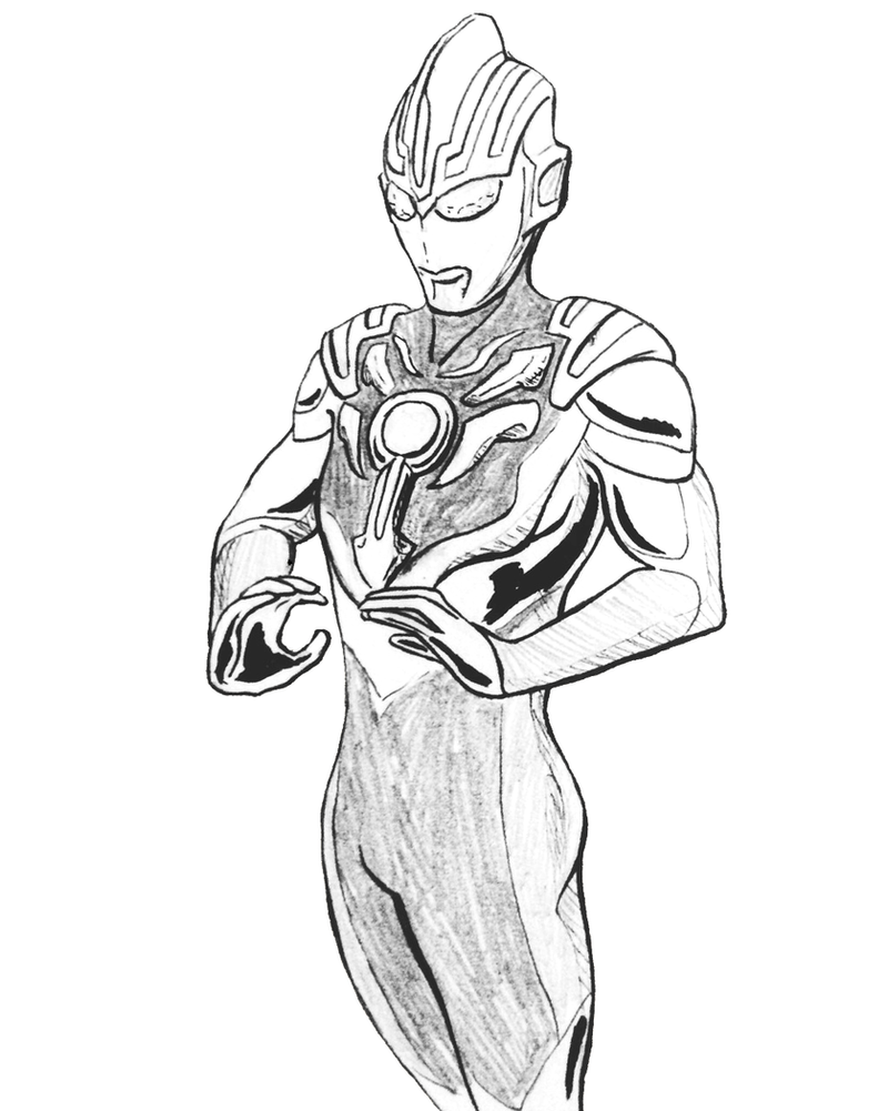 Lukisan Ultraman Kartun