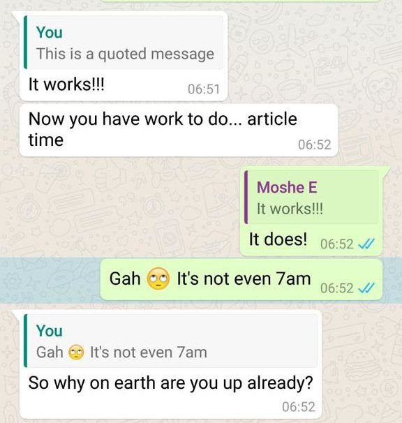 Whatsapp Gets Message Quotes And Replies Said List