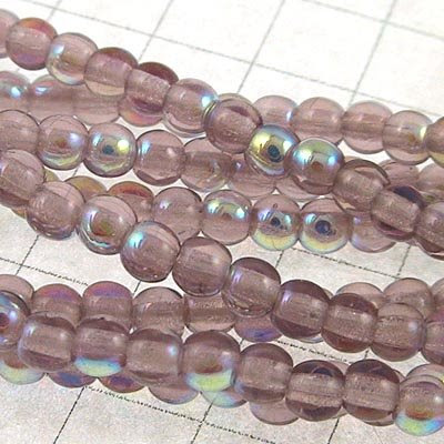 27803207-14 Glass - 3 mm Druks - Light Amethyst AB (Strand 100)